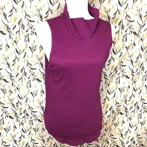Free People undershirt purple tank stop turtleneck